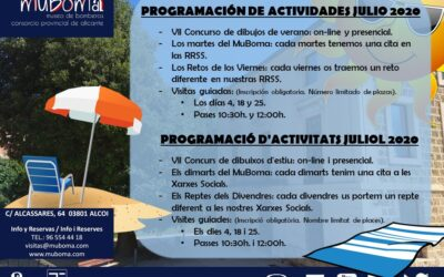 Schedule of activities for July 2020